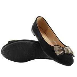 Balerinki damskie klasyczne czarne black 3