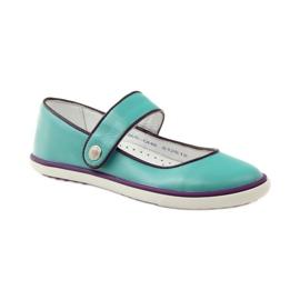 Balerinki buty dziecięce Bartek 28368 turkusowe zielone fioletowe białe 1