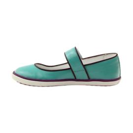 Balerinki buty dziecięce Bartek 28368 turkusowe zielone fioletowe białe 2