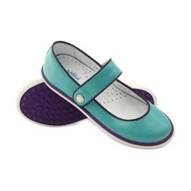 Balerinki buty dziecięce Bartek 28368 turkusowe zielone fioletowe białe 3