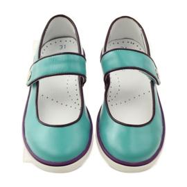 Balerinki buty dziecięce Bartek 28368 turkusowe zielone fioletowe białe 4