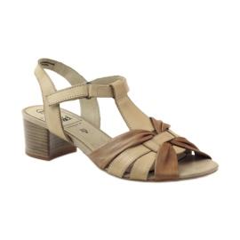 Caprice sandały buty damskie 28205 brązowe 1