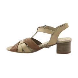Caprice sandały buty damskie 28205 brązowe 2