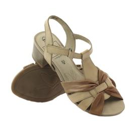 Caprice sandały buty damskie 28205 brązowe 3