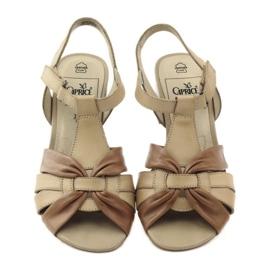 Caprice sandały buty damskie 28205 brązowe 4