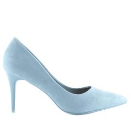 Zamszowe szpilki Candy Shop niebieskie LEI-90 L.BLUE 3