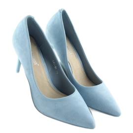 Zamszowe szpilki Candy Shop niebieskie LEI-90 L.BLUE 5