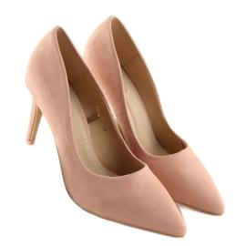 Szpilki damskie zamszowe różowe RS-GH31 Pink 3