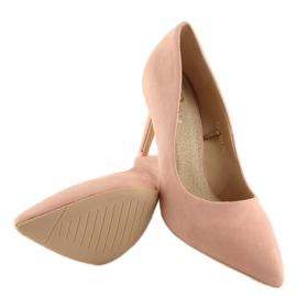 Szpilki damskie zamszowe różowe RS-GH31 Pink 4