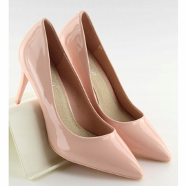 Czółenka damskie lakierowane różowe LEI-83 Pink 1