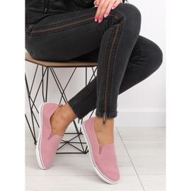 Trampki slipony różowe XL07P Pink 1