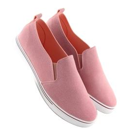 Trampki slipony różowe XL07P Pink 3