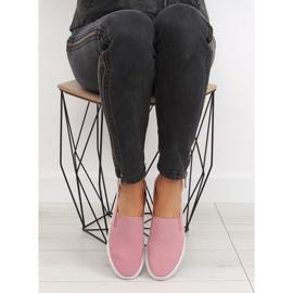 Trampki slipony różowe XL07P Pink 2