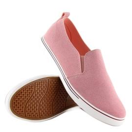 Trampki slipony różowe XL07P Pink 4