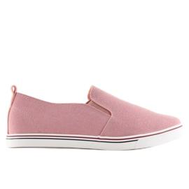 Trampki slipony różowe XL07P Pink 5