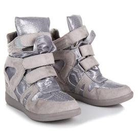 Sneakersy Na Rzepy VICES szare 3