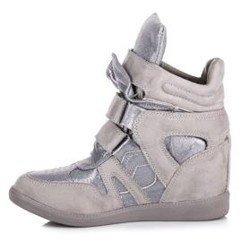 Sneakersy Na Rzepy VICES szare 1