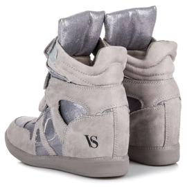 Sneakersy Na Rzepy VICES szare 2