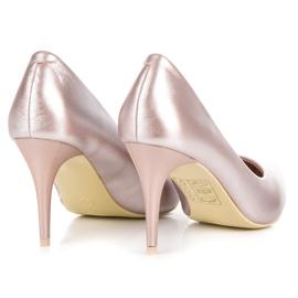 Vinceza Eleganckie perłowe szpilki różowe 4