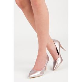 Vinceza Eleganckie perłowe szpilki różowe 1