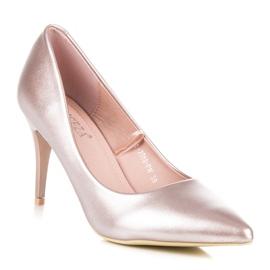 Vinceza Eleganckie perłowe szpilki różowe 2