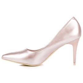 Vinceza Eleganckie perłowe szpilki różowe 3