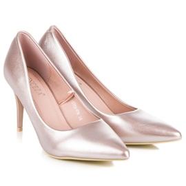 Vinceza Eleganckie perłowe szpilki różowe 5