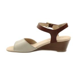 Caprice buty damskie sandały skórzane 28213 brązowe 2