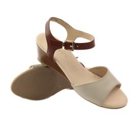 Caprice buty damskie sandały skórzane 28213 brązowe 3