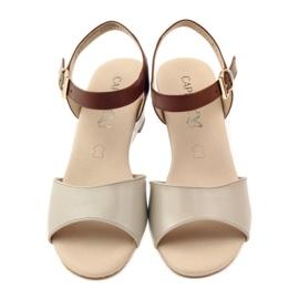 Caprice buty damskie sandały skórzane 28213 brązowe 4