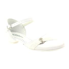 Czółenka balerinki komunijne Miko 714 białe 1