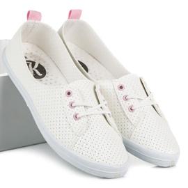 Kylie Ażurowe tenisówki białe 6
