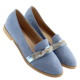 Mokasyny damskie niebieskie H8-110 Blue 4