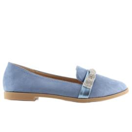 Mokasyny damskie niebieskie H8-110 Blue 5