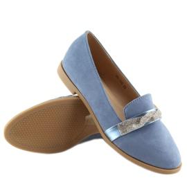 Mokasyny damskie niebieskie H8-110 Blue 6