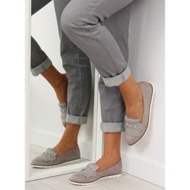 Mokasyny damskie szare DM30P Grey 1