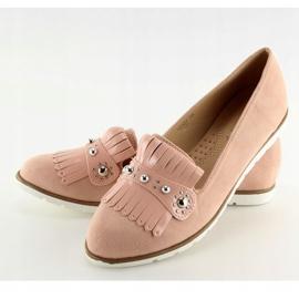 Mokasyny damskie różowe DM30P Pink 5