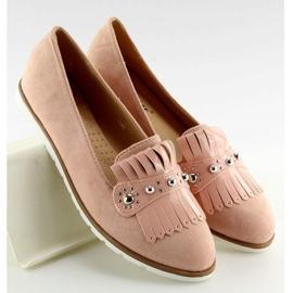 Mokasyny damskie różowe DM30P Pink 4