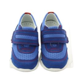 Buty sportowe trampki na rzep Bartek 31949 niebieskie 4