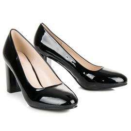Lucky Shoes Lakierowane czarne czółenka 5