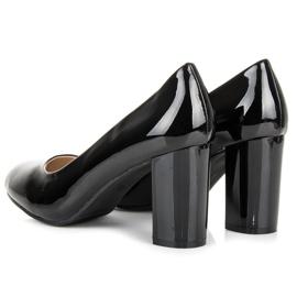 Lucky Shoes Lakierowane czarne czółenka 4