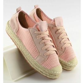 Trampki espadryle różowe BB06P Pink 4