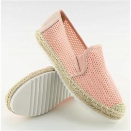 Slip-on espadryle różowe BB03P Pink 6