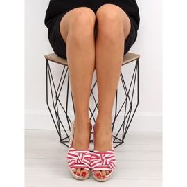 Sandałki espadryle w paski czerwone red 2