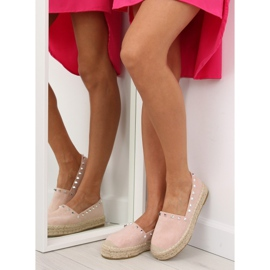 Espadryle damskie różowe 8333 pink 1