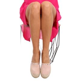 Espadryle damskie różowe 8333 pink 2