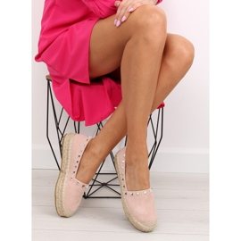 Espadryle damskie różowe 8333 pink 5
