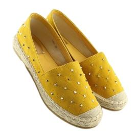 Espadryle z ćwiekami żółte 5481 Yellow 4