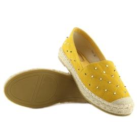 Espadryle z ćwiekami żółte 5481 Yellow 1