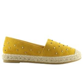 Espadryle z ćwiekami żółte 5481 Yellow 2
